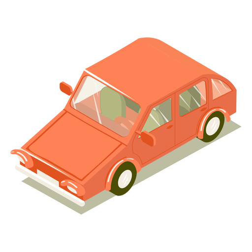 Isometric transport red car Transparent PNG