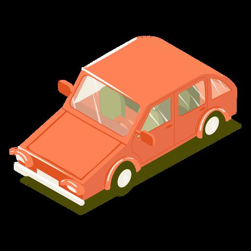 Transporte isométrico coche rojo Transparent PNG