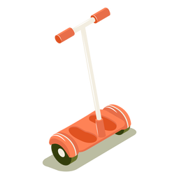 Isometric transport red scooter