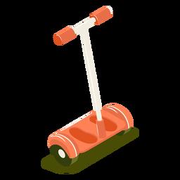 Scooter isométrico de transporte rojo