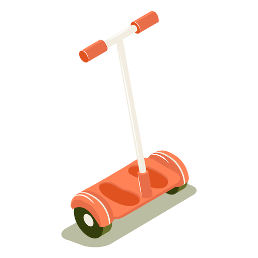 Isometric transport red scooter Transparent PNG