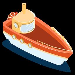 Nave isométrica de transporte rojo