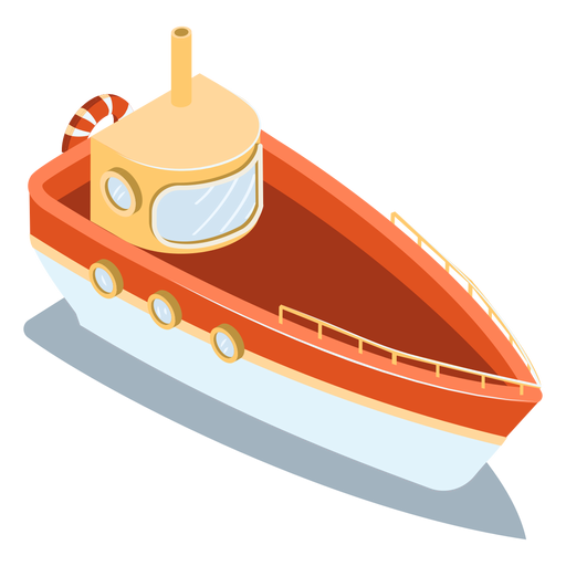 Isometric transport red ship Transparent PNG