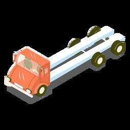 Caminhão de transporte isométrico vermelho