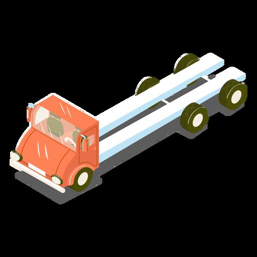 Camión isométrico de transporte rojo Transparent PNG