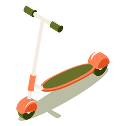 Isometric transport scooter