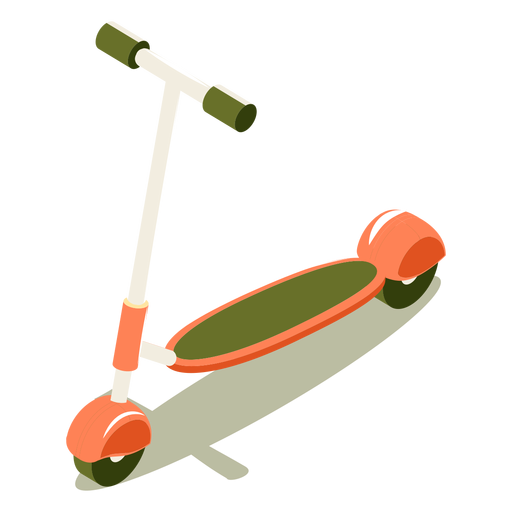 Isometric transport scooter Transparent PNG
