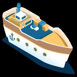 Navio de transporte isométrico