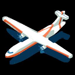 Avião de transporte isométrico branco