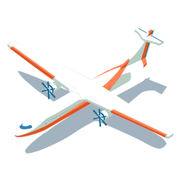 Avión blanco de transporte isométrico