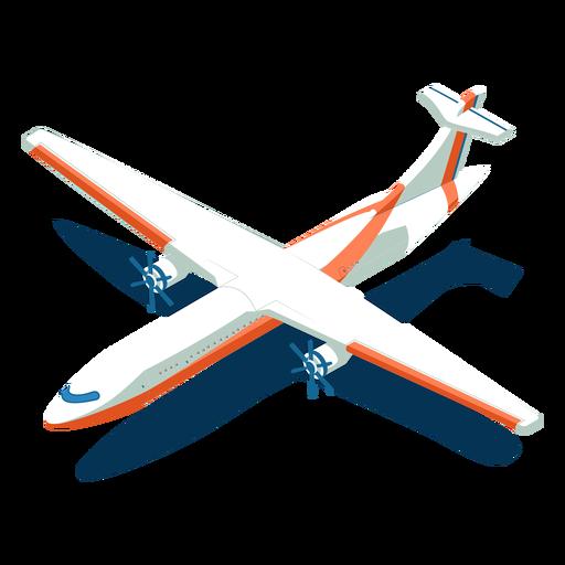 Avión blanco de transporte isométrico Transparent PNG