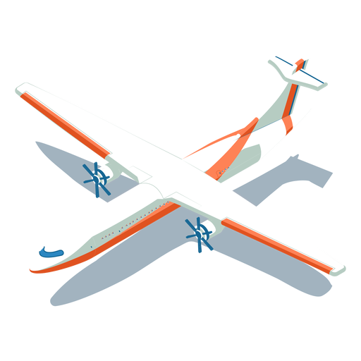 Isometric transport white plane Transparent PNG