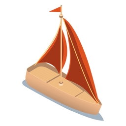 Isometrische Transportyacht