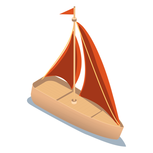 Isometric transport yacht Transparent PNG