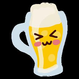 Jarra de cerveza de personaje kawaii