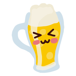 Kawaii character beer mug