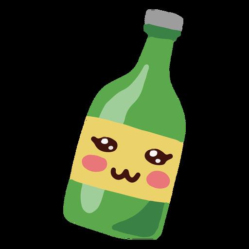 Kawaii character green bottle