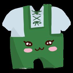 Fato de oktoberfest de personagem kawaii