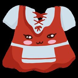 Vestido oktoberfest de personagem kawaii