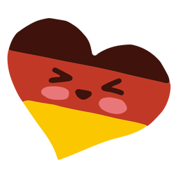 Kawaii character oktoberfest german heart