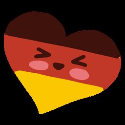 Kawaii personaje oktoberfest corazón alemán