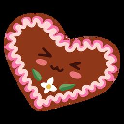 Corazón de oktoberfest de personaje kawaii
