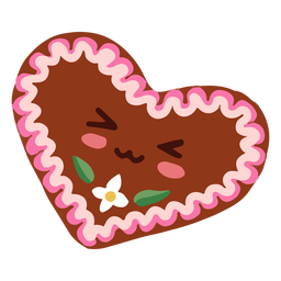 Kawaii character oktoberfest heart