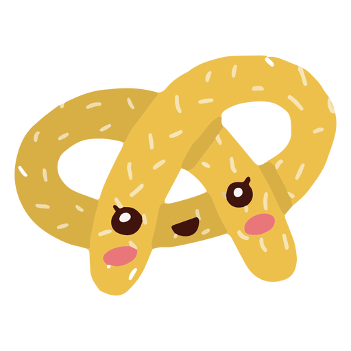 Kawaii character oktoberfest pretzel