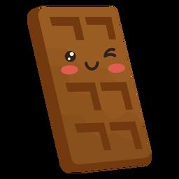 Barra de chocolate kawaii