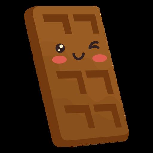 Barra de chocolate Kawaii Transparent PNG