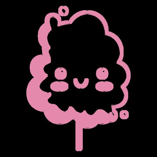 Kawaii cotton candy pink Transparent PNG