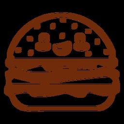 Hambúrguer de comida kawaii