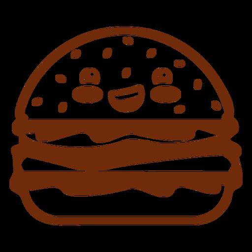 Kawaii food hamburger Transparent PNG