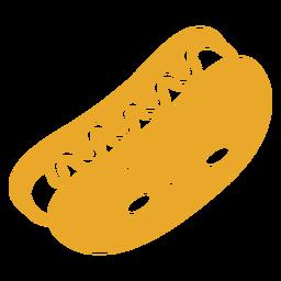 Perrito caliente de comida kawaii