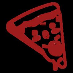 Pizza de comida kawaii