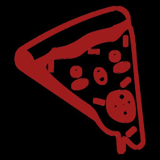 Kawaii food pizza Transparent PNG