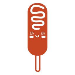 Kawaii food stick sausage