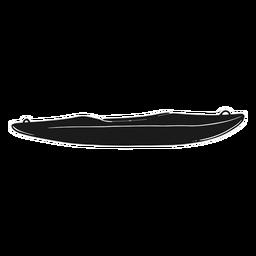 Kajak Silhouette schwarz
