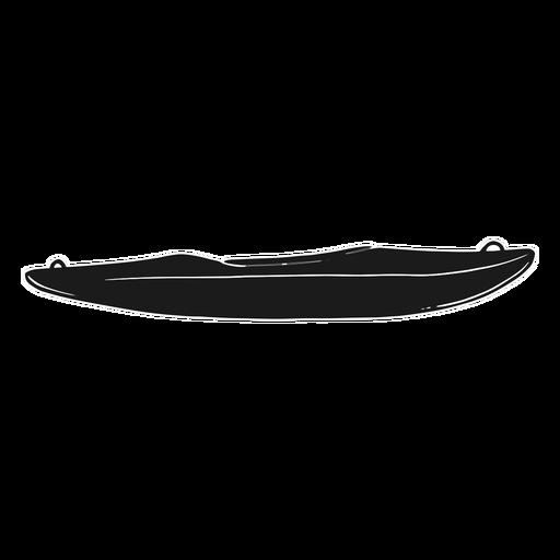 Kayak silueta negra
