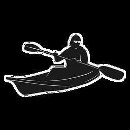 Barco de silhueta de caiaque