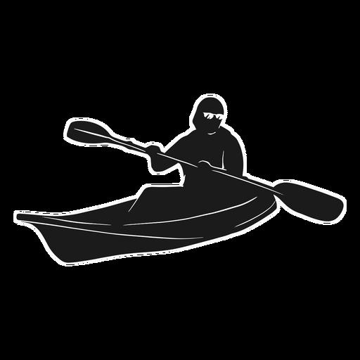 Kayak silhouette boat