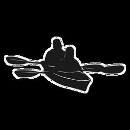 Canoa de silhueta de caiaque