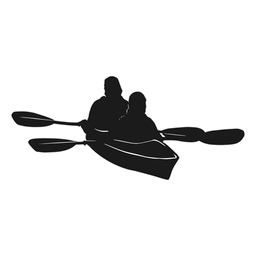 Kayak silhouette canoe