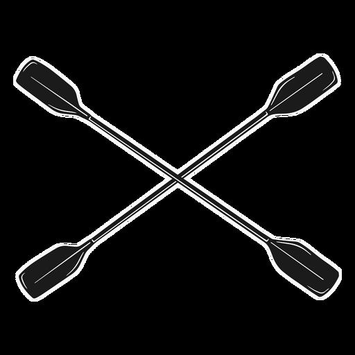 Kayak silhouette paddle
