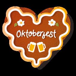 Lettering gingerbread heart oktoberfest