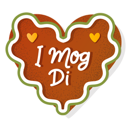Lettering oktoberfest gingerbread heart