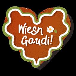 Lettering oktoberfest gingerbread heart wiesn gaudi