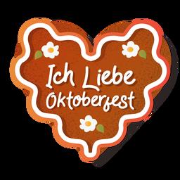 Lettering oktoberfest heart