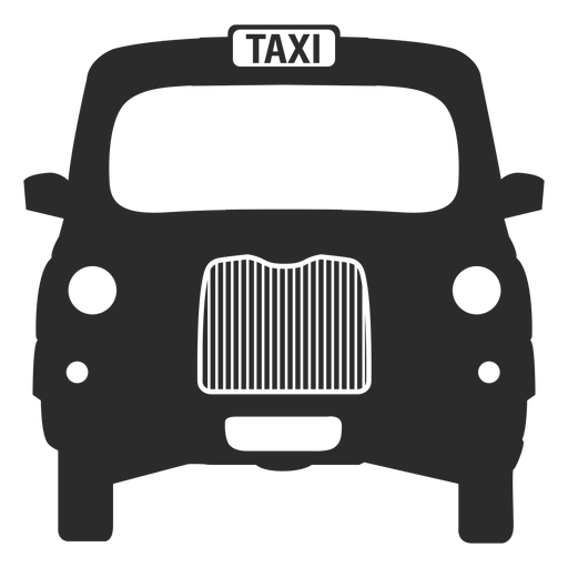 Taxi negro de Londres Transparent PNG
