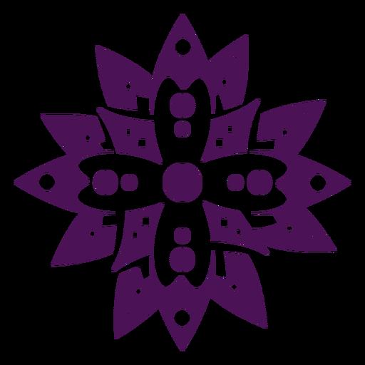 S?mbolos de mandala color violeta